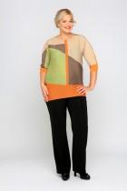блуза р-р 54-56 цвета серый с черным,оранжевый с беж.