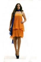 платье цвета фуксия ,желтый