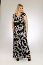 платье сакура черный